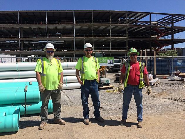 Empire contractors for IU Med School, Evansville; credit by Deb Turner