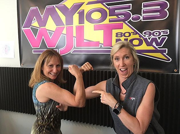 Energize Evansville's Lisa Bell with Deb Turner credit by Townsquare Media