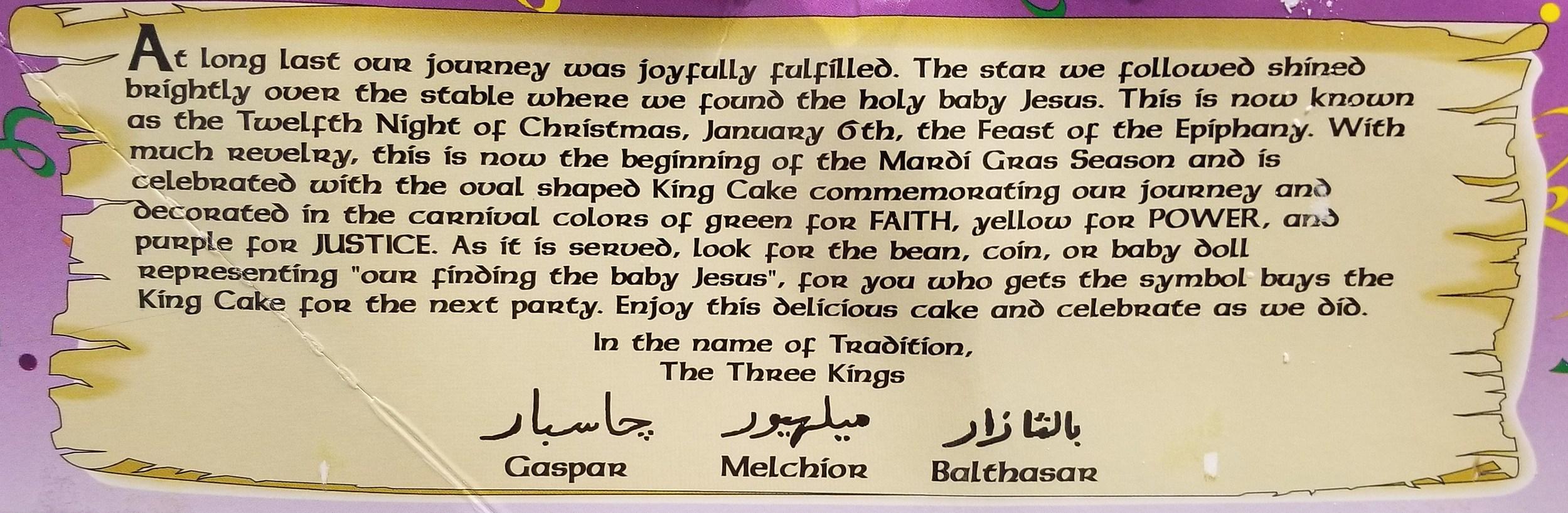 King Cake story